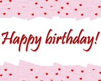 Tarjeta del feliz cumpleaños - ejemplo Fotografía de archivo