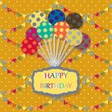 Tarjeta del feliz cumpleaños Fondo de la celebración con Fotos de archivo libres de regalías