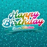 Tarjeta del feliz cumpleaños y de felicitación de recuerdos Fotos de archivo