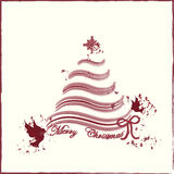 Tarjeta del fondo de la Feliz Navidad Imagenes de archivo