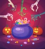 Tarjeta del fondo del cartel de Halloween Vector Fotografía de archivo libre de regalías