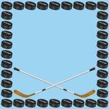 Tarjeta del fondo del hockey Fotografía de archivo libre de regalías