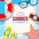 Tarjeta del fondo del verano Imágenes de archivo libres de regalías