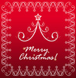 Tarjeta del fondo por Año Nuevo y para la Navidad Fotos de archivo libres de regalías