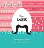 Tarjeta del fondo y de felicitación con el huevo de Pascua del inconformista Imagen de archivo