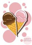 Tarjeta del helado Foto de archivo libre de regalías