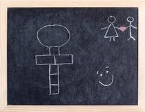 Tarjeta del Hopscotch Foto de archivo libre de regalías
