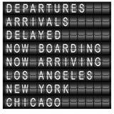 Tarjeta del horario de la estación del recorrido Fotografía de archivo
