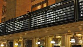 Tarjeta del horario del tren Fotografía de archivo libre de regalías