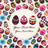 Tarjeta del huevo de Pascua Fotografía de archivo