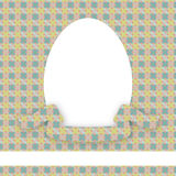 Tarjeta del huevo de Pascua Imágenes de archivo libres de regalías