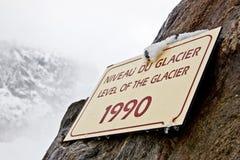 Tarjeta del indicador de altitud Fotografía de archivo libre de regalías