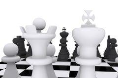 Tarjeta del juego de ajedrez Imagenes de archivo