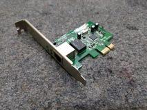 Tarjeta del LAN de Ethernet del dispositivo foto de archivo libre de regalías