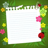 Tarjeta del libro de recuerdos del bebé Foto de archivo