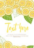 Tarjeta del limón stock de ilustración