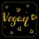 Tarjeta del logotipo del vegano Fotos de archivo libres de regalías