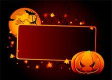 Tarjeta del lugar de Halloween stock de ilustración
