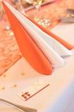 Tarjeta del lugar de la boda Foto de archivo