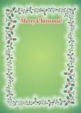 Tarjeta del marco de la foto del muérdago de la Feliz Navidad Fotografía de archivo libre de regalías