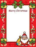 Tarjeta del marco de la Navidad Fotografía de archivo libre de regalías