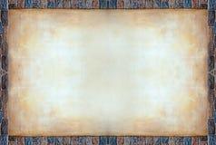 Tarjeta del marco de la roca del color con el cemento viejo del queso de cerdo Imágenes de archivo libres de regalías