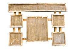 Tarjeta del marco de madera Foto de archivo libre de regalías