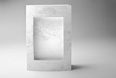 Tarjeta del marco o marco en blanco de la foto Fotografía de archivo