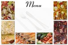 Tarjeta del menú. Fotos de archivo libres de regalías