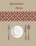 Tarjeta del menú Imagen de archivo libre de regalías