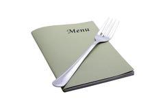 Tarjeta del menú Fotos de archivo libres de regalías