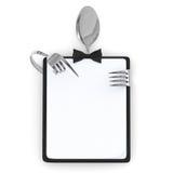 Tarjeta del menú Fotografía de archivo