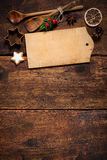 Tarjeta del menú de la Navidad Imagen de archivo