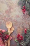 Tarjeta del menú de la Navidad Fotografía de archivo libre de regalías