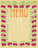 Tarjeta del menú de la vendimia Fotos de archivo