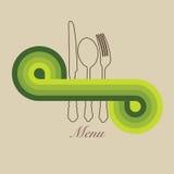 Tarjeta del menú del resorte imagen de archivo