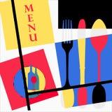 Tarjeta del menú del restaurante stock de ilustración