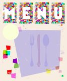 Tarjeta del menú, modelo del diseño Fotos de archivo