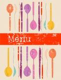 Tarjeta del menú, modelo del diseño, stock de ilustración