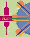 Tarjeta del menú, modelo del diseño ilustración del vector