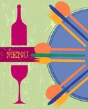 Tarjeta del menú, modelo del diseño Foto de archivo