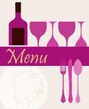 Tarjeta del menú, modelo del diseño, ilustración del vector