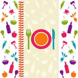 Tarjeta del menú o del restaurante Foto de archivo libre de regalías