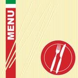 Tarjeta del menú - pastas libre illustration