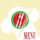 Tarjeta del menú - pastas stock de ilustración