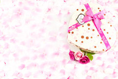 Tarjeta del mensaje de la tarjeta del día de San Valentín Foto de archivo