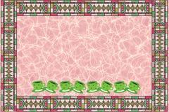 Tarjeta del mosaico ilustración del vector