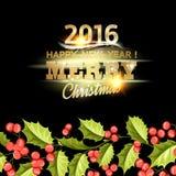 Tarjeta del muérdago de la Navidad Imágenes de archivo libres de regalías