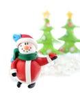 Tarjeta del muñeco de nieve de la Navidad Imagen de archivo