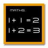 Tarjeta del negro de la educación de la matemáticas Imagen de archivo libre de regalías